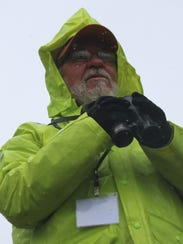 """Tom Bartlett did not let the rain dampen his """"Big Sit"""""""