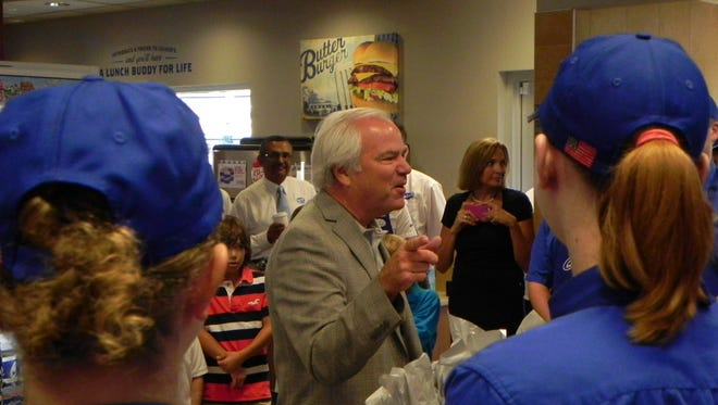 Culver's founder and CEO Craig Culver is in Fort Myers today to mark the opening of his company's 510th store.