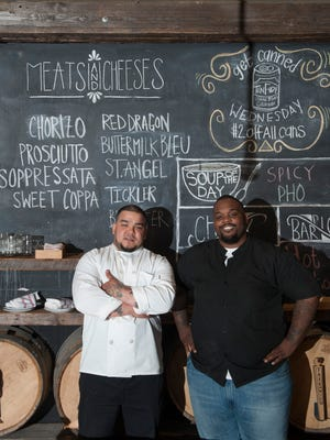 Chef Oliver Munguia, left, and sous-chef Gardner Wilson at Keg & Kitchen in Westmont.