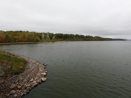 Lake DeForest from on top of the dam in West Nyack