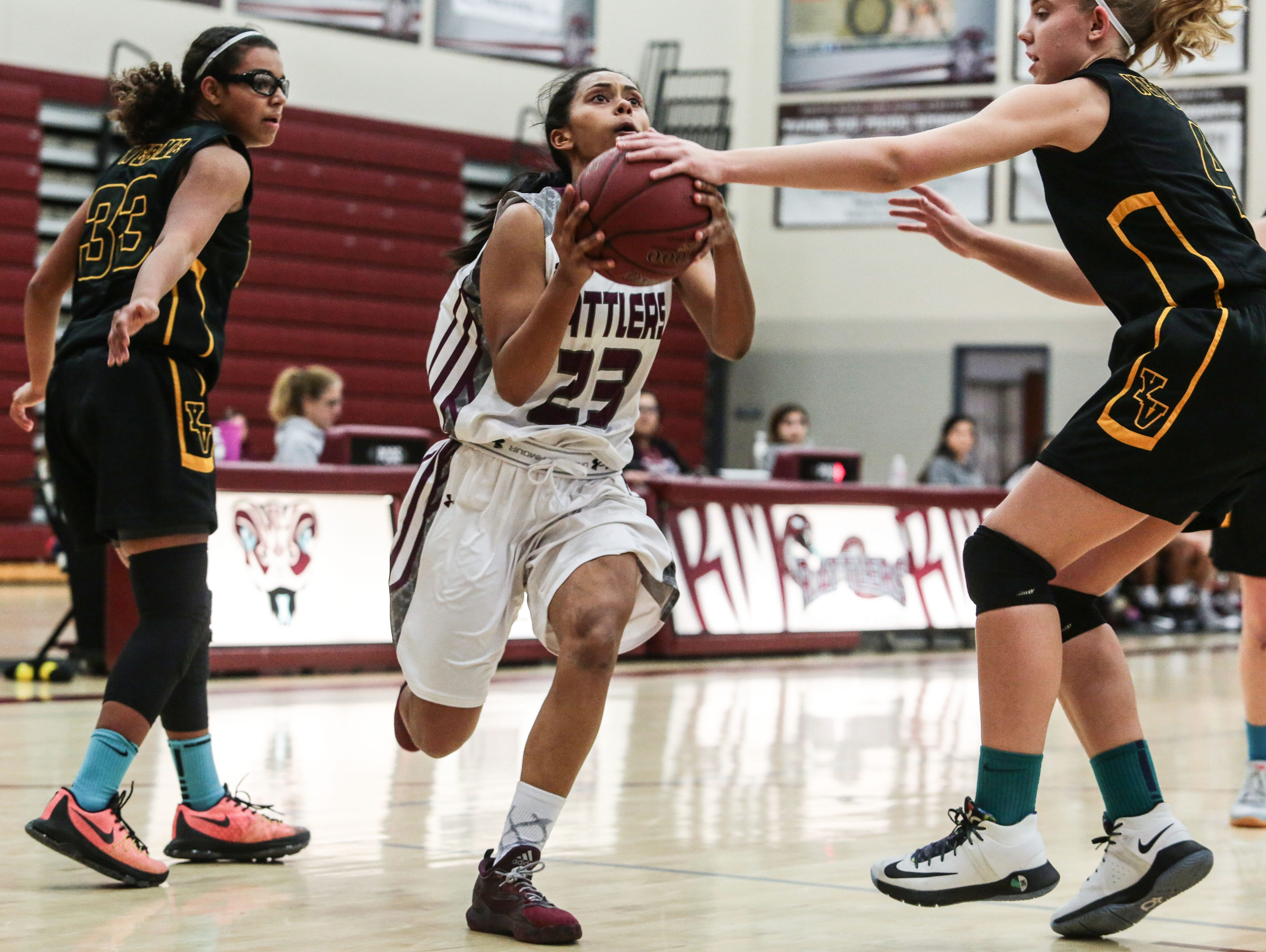 Rancho Mirage's Phoenix Chirwa in action against Yucca Valley on Thursday, February 2, 2017 in Rancho Mirage.