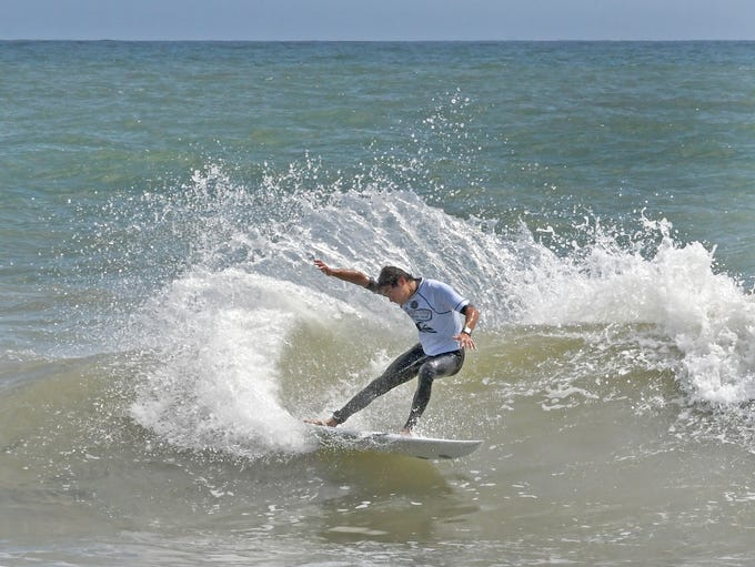 One of Thursday's surfing heats at the annual Ron