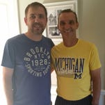 Longtime friends and fellow Redford Thurston football coaches Pete Kotsogiannis (left) and Bob Snell are doing well a few days after Kotsogiannis donated a kidney and Snell received one.