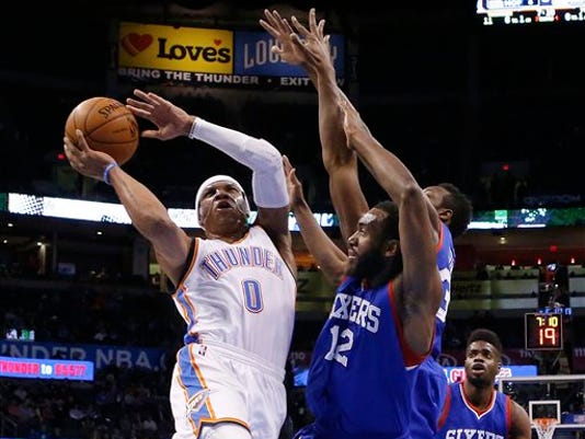 Russell Westbrook, Luc Mbah a Moute