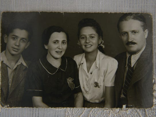 A photo of Renee Ganz's family before the war. From