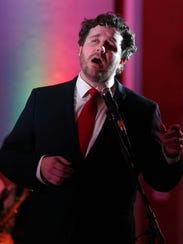 Michael Spyres sings during the Springfield Regional Opera's Jazz Aria fundraiser at The DoubleTree hotel in Springfield on March 12, 2016.