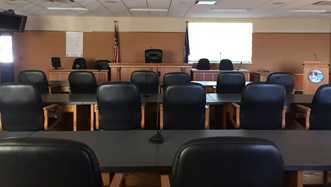 The meeting room for the Kewaunee County Board of Supervisors.