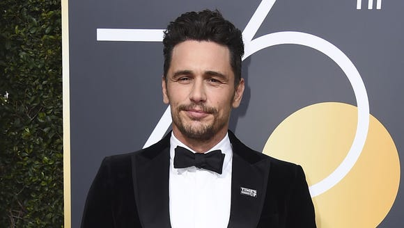 James Franco wore a Time's Up pin on his lapel at the