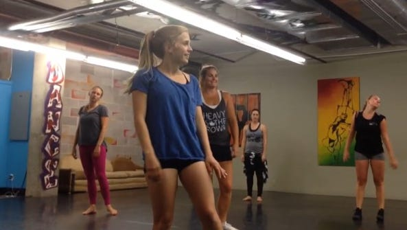 Shay Myers and her crew of dancers practice the routine
