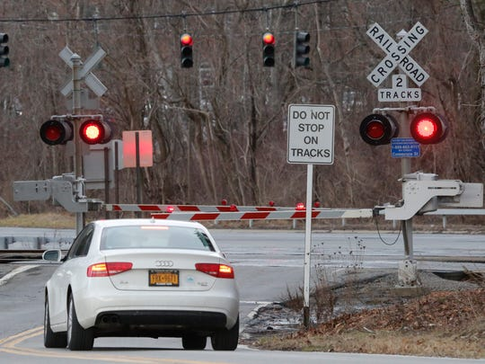 The Commerce Street Metro-North train crossing in Valhalla on Feb. 1, 2017.