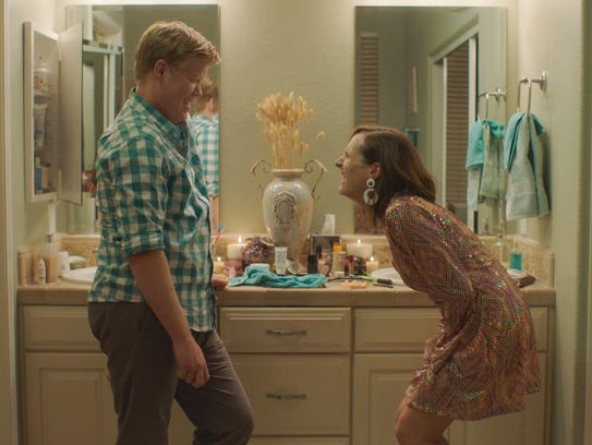 Jesse Plemons (left) and Molly Shannon in 'Other People.'