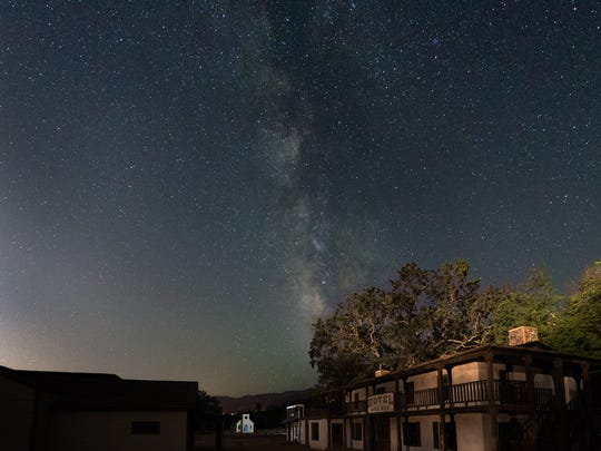 The night sky is shown at Paramount Ranch in Agoura. A new study shows light pollution in the Santa Monica Mountains National Recreation Area has remained stable over the past 20 years.