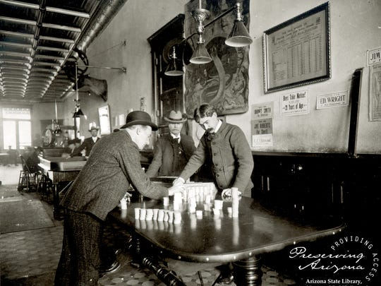 The Palace Saloon was always popular with gamblers,