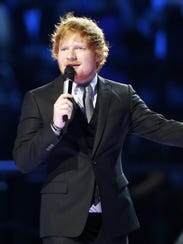 Ed Sheeran presents the MTV European Music Awards in