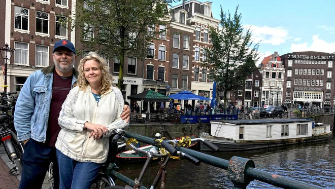 Marty and Jody Medvedik of St. Clair Shores took the D to the canals of Amsterdam, Netherlands, while on a trip to Europe in September 2017.