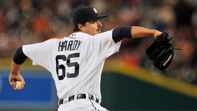 Tigers pitcher Blaine Hardy threw 3.1 scoreless innings against the Twins on Wednesday.