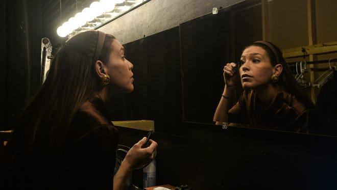 "Karina Yager applies her makeup before performing in the play ""LUV"" at Bas Bleu Theatre. A SCFD tax may go in front of voters this November to support programming at scientific and cultural institutions like museums, theaters and more."