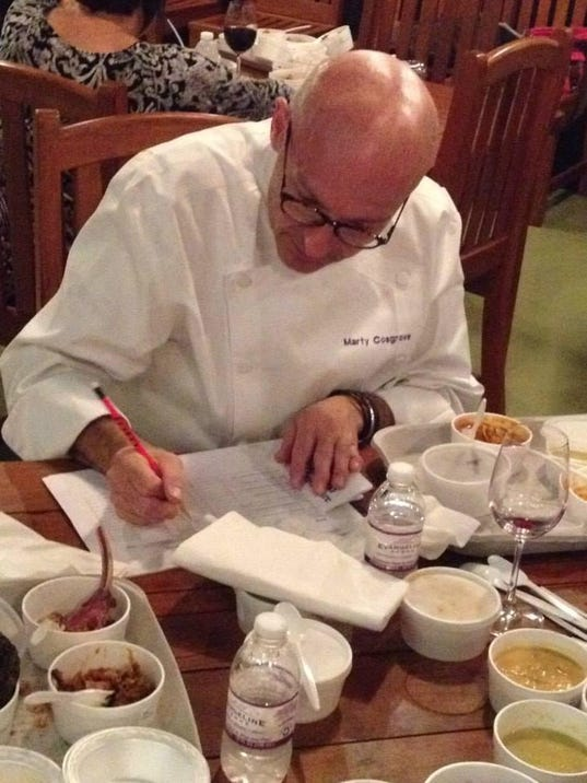 Chef Marty Cosgrove Judging at 2014 Soirée
