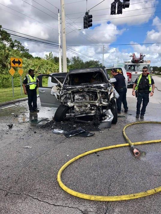 Three injured in Thursday crash