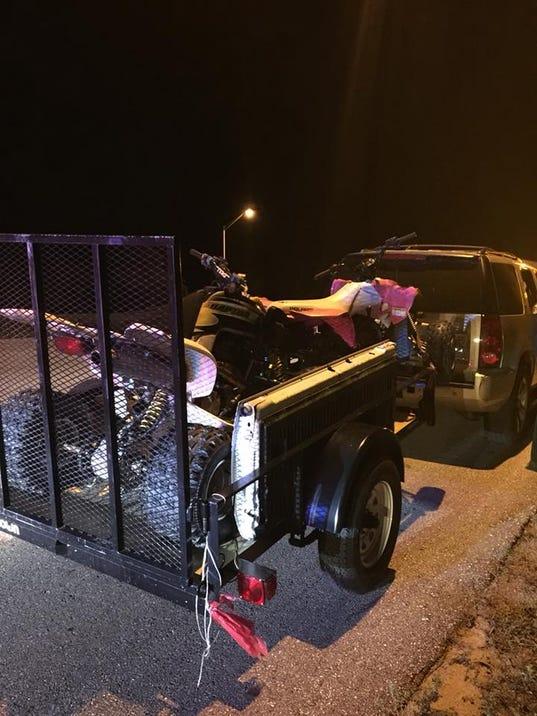 Stolen ATV and trailer