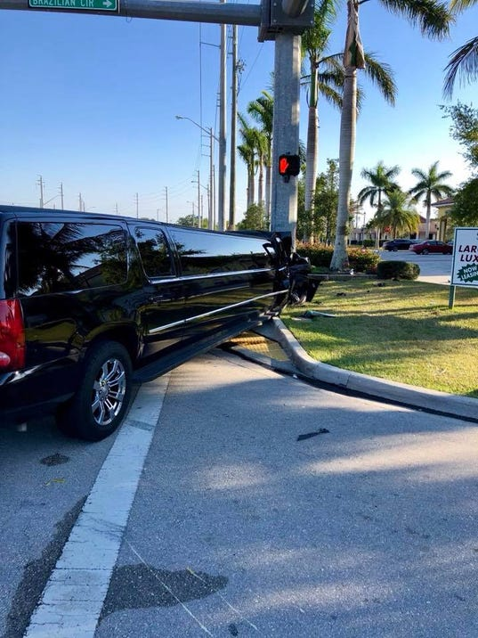 Limo crash in Port St. Lucie