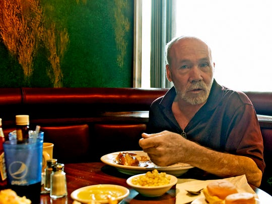 Milt Naylor, Newville, said he is not voting during the Presidential election. Naylor spoke to reporters during an interview on Tuesday, November 1, 2016 at Duffy's Restaurant.