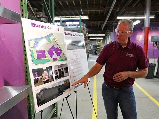 BCI Burke President Michael Phelan discusses plans the company has to expand during a meeting Wednesday June 7, 2017.