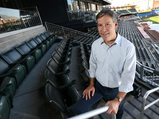 MountainStar Sports Group President Alan Ledford at Southwest University Park in Downtown El Paso. The group is pursuing a United Soccer League expansion team and Downtown-area soccer stadium.