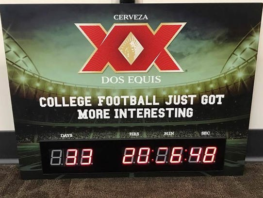 This countdown clock from Dos Equis is just one of