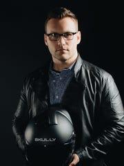 Skully founder Marcus Weller, whose motorcycle helmet