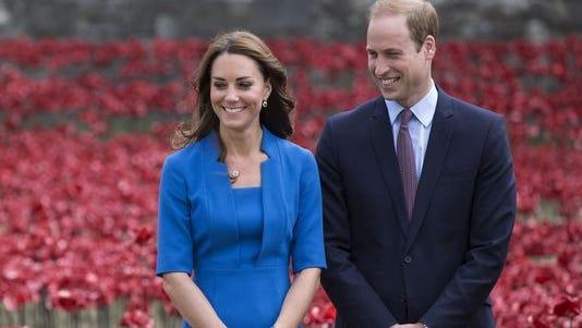 Catherine, Duchess of Cambridge, and Prince William.