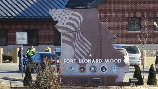 A 2011 photo shows the Sverdrup Gate of Fort Leonard Wood near Rolla, Mo.