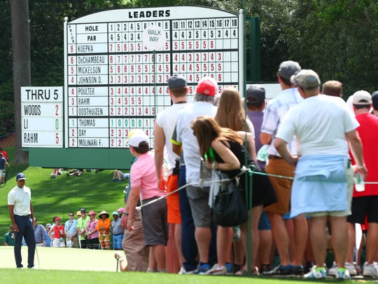 Masters Round 2: Photo gallery from Augusta National