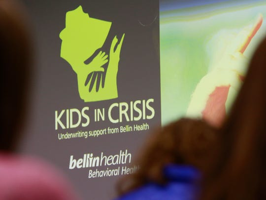 A Kids in Crisis town hall was held Tuesday, April 10, 2018, at the Marathon County Public Library in Wausau, Wis.