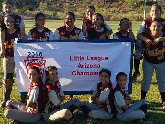 State softball champs in Little League