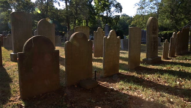 Graveyard at Christ Church in Shrewsbury.