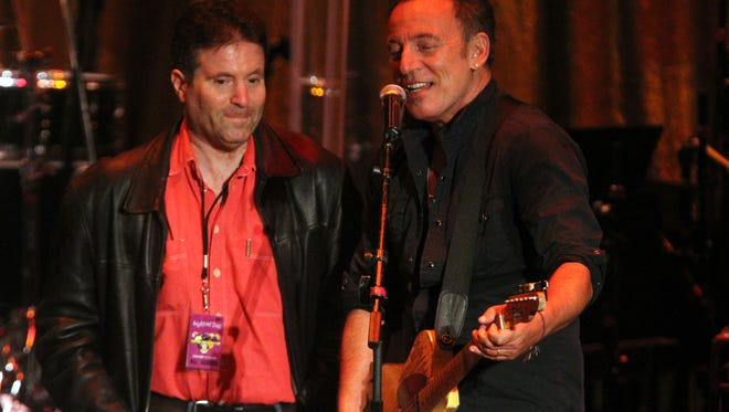 Bob Benjamin and Bruce Springsteen at the 2015 Light of Day in Asbury Park.