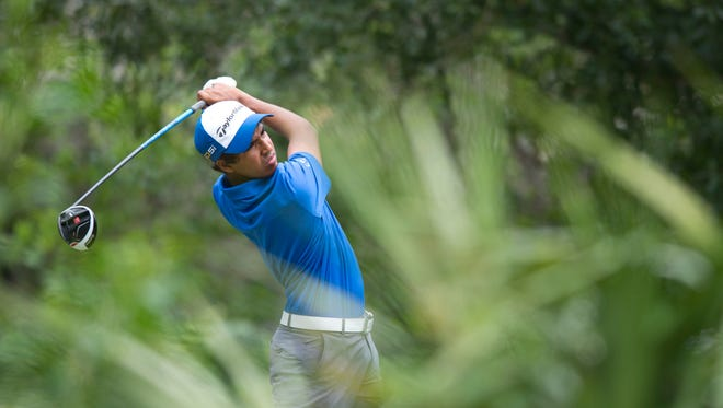 Sachin Kumar, shown in this file photo, finished second Sunday in the Allianz Junior Boys Championship - falling one shot short.