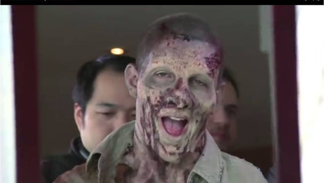 Watch what happens when this zombie prankster pulls the ultimate prank.