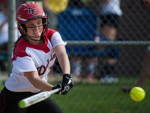 Annville-Cleona's Morgan Zimmerman connects for a hit