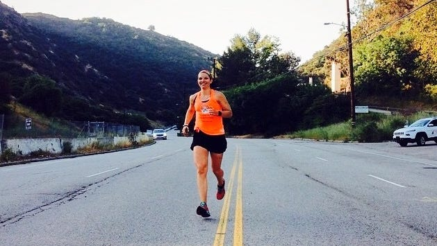 Fond du Lac resident Melissa Schmidt starts strong on the first day of the MS Run the US Relay in 2015. She ran in the relay again this year.