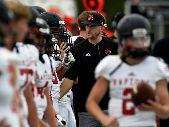 Ravenwood coach Matt Daniels