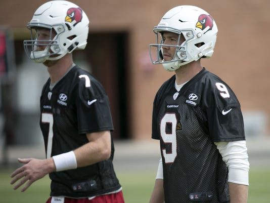 The drafting of Josh Rosen raises questions about the future of Sam Bradford  and Mike Glennon in Cardinals uniforms. (Photo  David Wallace azcentral  sports) edf8ca7b1