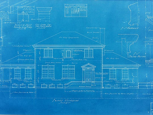 Scanning old blueprints to preserve architectural past