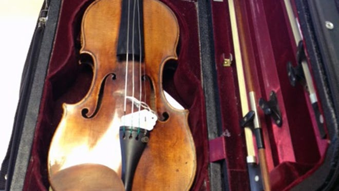 A missing 1696 Antonio Stradivarius violin, stolen by opportunistic thieves in London in November 2010.