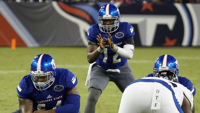 Former Hillsboro star Michael Hughes replaced Treon Harris at quarterback for Tennessee State Saturday and led the Tigers to their first touchdown against Eastern Illinois at Nissan Stadium. Harris, who had been injured, returned in the second half.