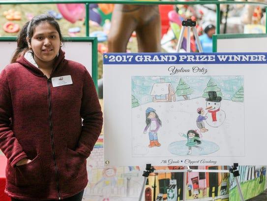 Yuliana Ortiz, 12, of Detroit is the winner of the