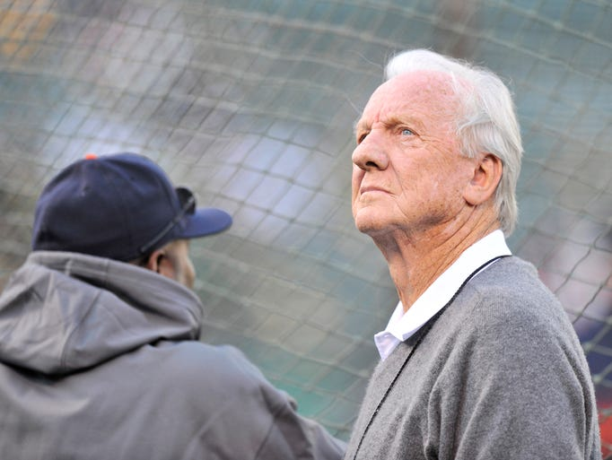 Tigers legend and Hall of Famer Al Kaline watches