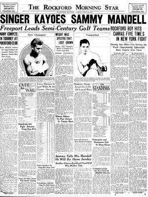 The July 18, 1930, Rockford Morning Star, a predecessor of the Rockford Register Star.