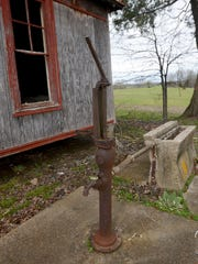 Students of the Old Mt. Zion Negro School used this water pump for running water. The building still stands in its original location in Bradford. There is a campaign to try to get the one-room school building, which was built in 1870 and occupied until 1962, on the National Registry of Historic Places.